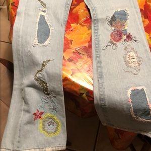 bebe Jeans - Flower Embroidered Bebe Jeans!